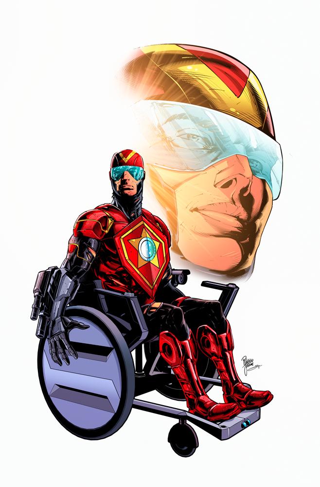 Capitão R.E.D cadeirante - Arte Por Ricardo Jaime